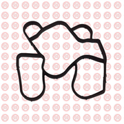 Прокладка маслоохладителя Foton Tunland 2037 с дв. ISF 2.8 5262903